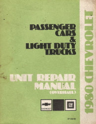 1980 Chevrolet Passenger Car & Light Duty Truck Unit Repair Manual