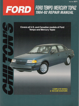 1984 - 1992 Ford Tempo & Mercury Topaz Chilton's Total Car Care Manual