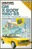 1980 - 1985 GM X-Body: Chevrolet Citation, Buick Skylark, Pontiac Phoenix & Oldmobile Omega, Chilton's Repair & Tune Up Guide (SKU: 0801975921)