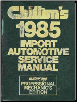 1987 - 1991 Chilton's Import Auto Service Manual, Shop Edition (SKU: 0801975956)