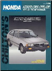 1973 - 1983 Honda Accord, Civic, CVCC & Wagon & Prelude Chilton's Total Car Care Manual (SKU: 0801985919)