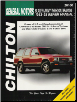 1983 - 1993 Chevy S-10 Blazer, GMC S-15 Jimmy & Typhoon, Oldsmobile Bravada Chilton's Total Car Care Manual (SKU: 0801991102)