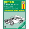 1968 - 1973 Datsun 510 & PL 521 Pick-up Haynes Repair Manual (SKU: 085696123X)
