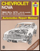 1969 - 1979 Chevrolet Nova Haynes Automotive Repair Manual (SKU: 0856966932)