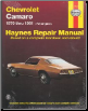 1970 - 1981 Chevrolet Camaro Haynes Repair Manual (SKU: 0856968811)