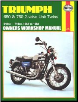 1963 - 1983 Triumph 650, 750 2-Valve Twins Haynes Repair Manual (SKU: 0856968900)