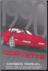 1990 Chevrolet Corvette Factory Owner's Manual (SKU: 10122656B)