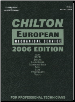 2006 Chilton's European Mechanical Service Manual - (2002 - 2005 year coverage) (SKU: 1418006041)