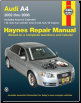 2002 - 2008 Audi A4 Haynes Repair Manual (SKU: 156392837X)