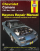 1982 - 1992 Chevrolet Camaro Haynes Repair Manual (SKU: 1563920603)