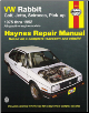 1975 - 1992 VW Rabbit, Golf, Jetta, Scirocco & Pick-up Haynes Repair Manual (SKU: 1563920611)