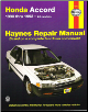1990 - 1993 Honda Accord Haynes Repair Manual (SKU: 1563920670)