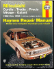 1983 - 1993 Mitsubishi Cordia, Tredia, Precis, Mirage and Galant Haynes Repair Manual (SKU: 1563920913)