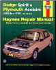 1989 - 1995 Dodge Spirit & Plymouth Acclaim, Haynes Repair Manual (SKU: 1563921413)