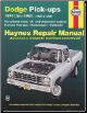 1974 - 1993 Dodge Full-size Pick-ups Ramcharger & Trailduster Haynes Repair Manual (SKU: 1563922029)