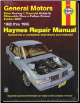 1982 - 1996 General Motors Buick Century, Chevrolet Celebrity, Oldsmobile Ciera, Pontiac 6000 & Cutlass Cruiser Haynes Repair Manual (SKU: 1563922096)