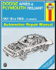1981 - 1989 Dodge Aries & Plymouth Reliant Repair Manual (SKU: 1563922282)