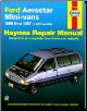 1986 - 1997 Ford Aerostar Mini-Vans Haynes Repair Manual (SKU: 1563923742)