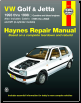 1993 - 1998 Volkswagen Golf and Jetta Haynes Repair Manual (SKU: 1563927128)