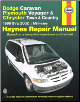 1996 - 2002 Dodge Caravan, Plymouth Voyager and Chrysler Town & Country Haynes Repair Manual (SKU: 1563924692)