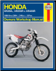 1986 - 2004 Honda XR250L, XR250R, XR400R Haynes Repair Manual (SKU: 1620920964)