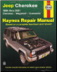 1984 -2001 Jeep Cherokee, Wagoneer & Comanche, Haynes Repair Manual (SKU: 1563925400)