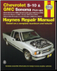 1994 - 2004 Chevrolet S10 & Sonoma Pick-up, 1995 - 2004 Blazer / GMC Jimmy & 1996 - 2001 Olds Bravada & Isuzu Hombre Haynes Repair Manual (SKU: 1563927284)