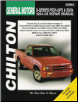 1994 - 2004 GM S-Series Pick-Ups & SUV's Chilton's Total Car Care Manual (SKU: 1563926008)