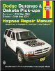 2000 - 2003 Dodge Durango & 2000 - 2004 Dodge Dakota Haynes Repair Manual (SKU: 1563926776)