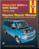 1985 - 2005 Chevrolet Astro & GMC Safari Mini-Van, Haynes Repair Manual (SKU: 1563926962)