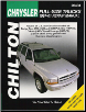 1997 - 2001 Chrysler / Dodge Full Size Trucks: Ram, Dakota, Durango, Chilton's Total Car Care Manual (SKU: 1563926989)