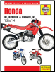 1983 - 2014 Honda XL/XR600R & XR650L/R Haynes Repair Manual (SKU: 1620921677)