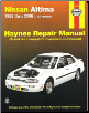 1993 - 2006 Nissan Altima, Haynes Repair Manual (SKU: 1563927225)