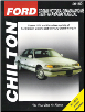 1989 - 2010 Ford Crown Victoria & Grand Marquis Chilton's Total Car Care Manual (SKU: 156392904X)