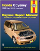 1999 - 2010 Honda Odyssey Haynes Repair Manual (SKU: 1563929236)