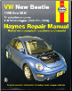 1998 - 2010 Volkswagen New Beetle Haynes Repair Manual (SKU: 1563929945)