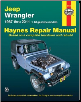 1987 - 2011 Jeep Wrangler Haynes Repair Manual (SKU: 156392983X)