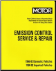 1966 - 1982 MOTOR Emission Control Service & Repair - Cars, Light & Heavy Duty Trucks (SKU: 1582510695)