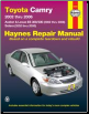 2002 - 2006 Toyota Camry, Avalon, Lexus ES 300/330 & 2002 - 2008 Toyota Solara Haynes Repair Manual (SKU: 1620920271)