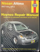 2007 - 2012 Nissan Altima Haynes Repair Manual (SKU: 1620920506)