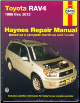 1996 - 2012 Toyota RAV4 Haynes Repair Manual (SKU: 1620920743)