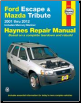 2001 - 2012 Ford Escape, Mazda Tribute, & 2005 - 2011 Mercury Mariner Haynes Repair Manual (SKU: 1620920751)