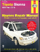 1998 - 2010 Toyota Sienna Haynes Repair Manual (SKU: 1620920824)