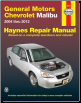 2004 - 2012 Chevrolet Malibu Haynes Repair Manual (SKU: 1620920859)