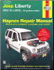 2002 - 2012 Jeep Liberty Haynes Repair Manual (SKU: 1620921022)