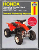1993 - 2014 Honda TRX300EX, TRX400EX, TRX450R, TRX450ER Haynes ATV Owners Workshop Manual (SKU: 1620921103)