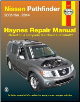 2005 - 2014 Nissan Pathfinder Haynes Repair Service Workshop Manual (SKU: 1620921456)