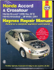 2003 - 2012 Honda Accord and 2010 - 2014 Crosstour Haynes Repair Manual (SKU: 1620921812)