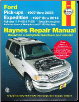 1997 - 2003 Ford F150, 1997- 1999 F250, 1997 - 2014 Expedition and Lincoln Navigator Haynes Repair Manual (SKU: 1620921839)