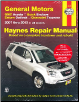 2007 - 2015 General Motors Acadia, Enclave, Outlook, and Traverse Haynes Repair Manual (SKU: 162092210X)